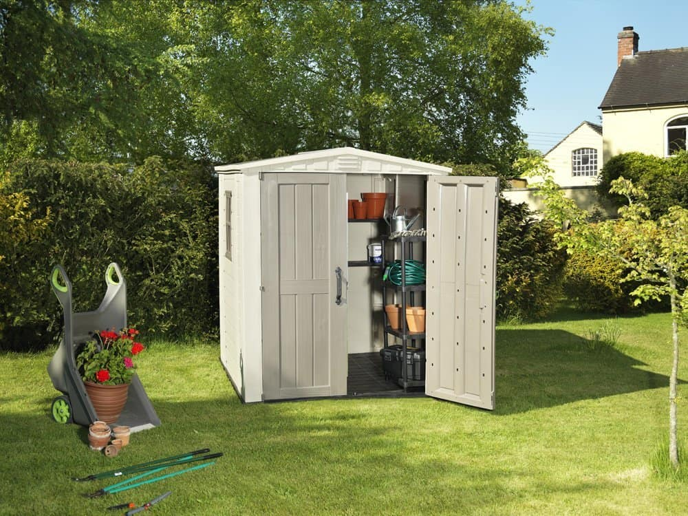 keter plastic sheds factor outdoor garden storage shed review garden shed reviews. Black Bedroom Furniture Sets. Home Design Ideas