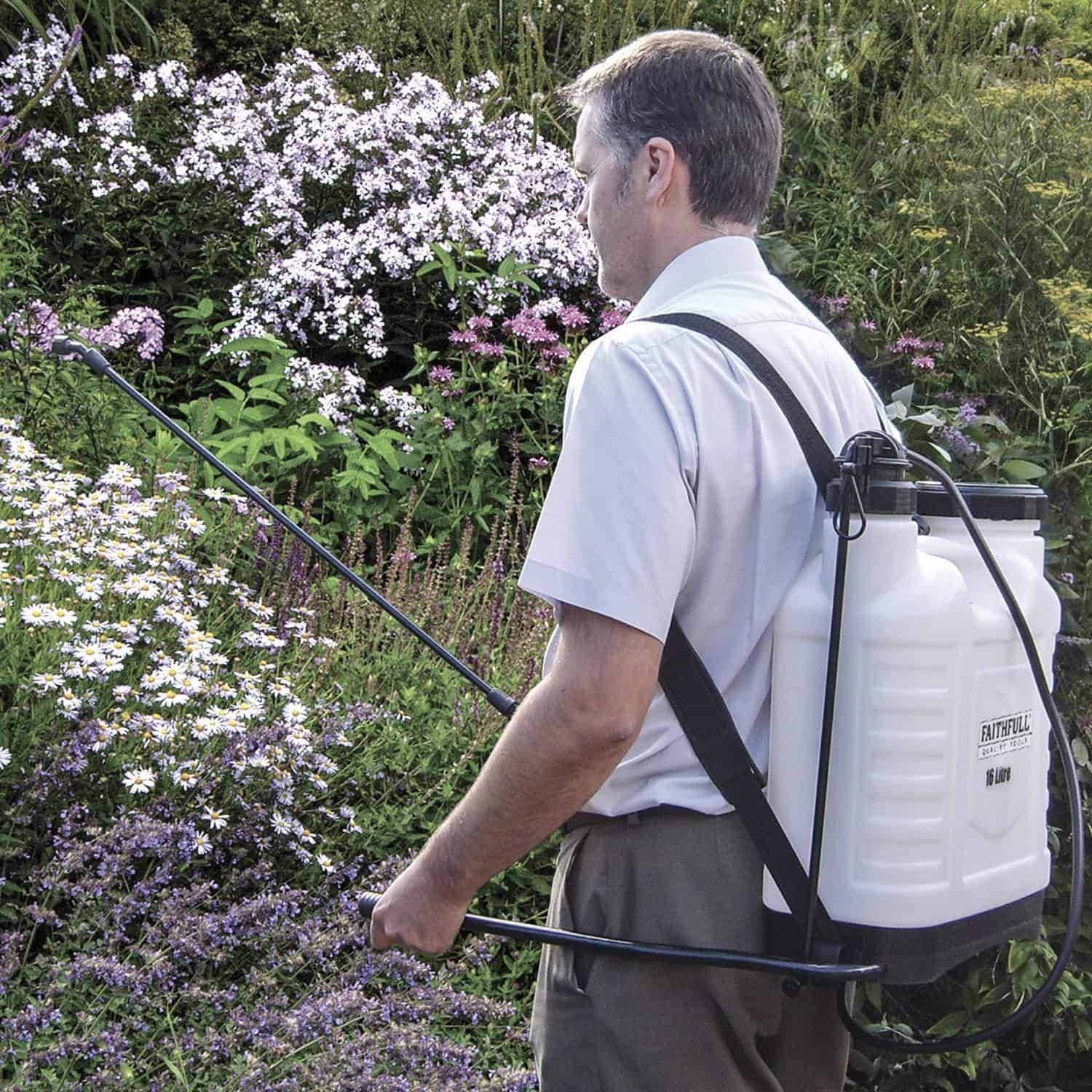 Faithfull SPRAY16AV Pressure Sprayer Knapsack 16L