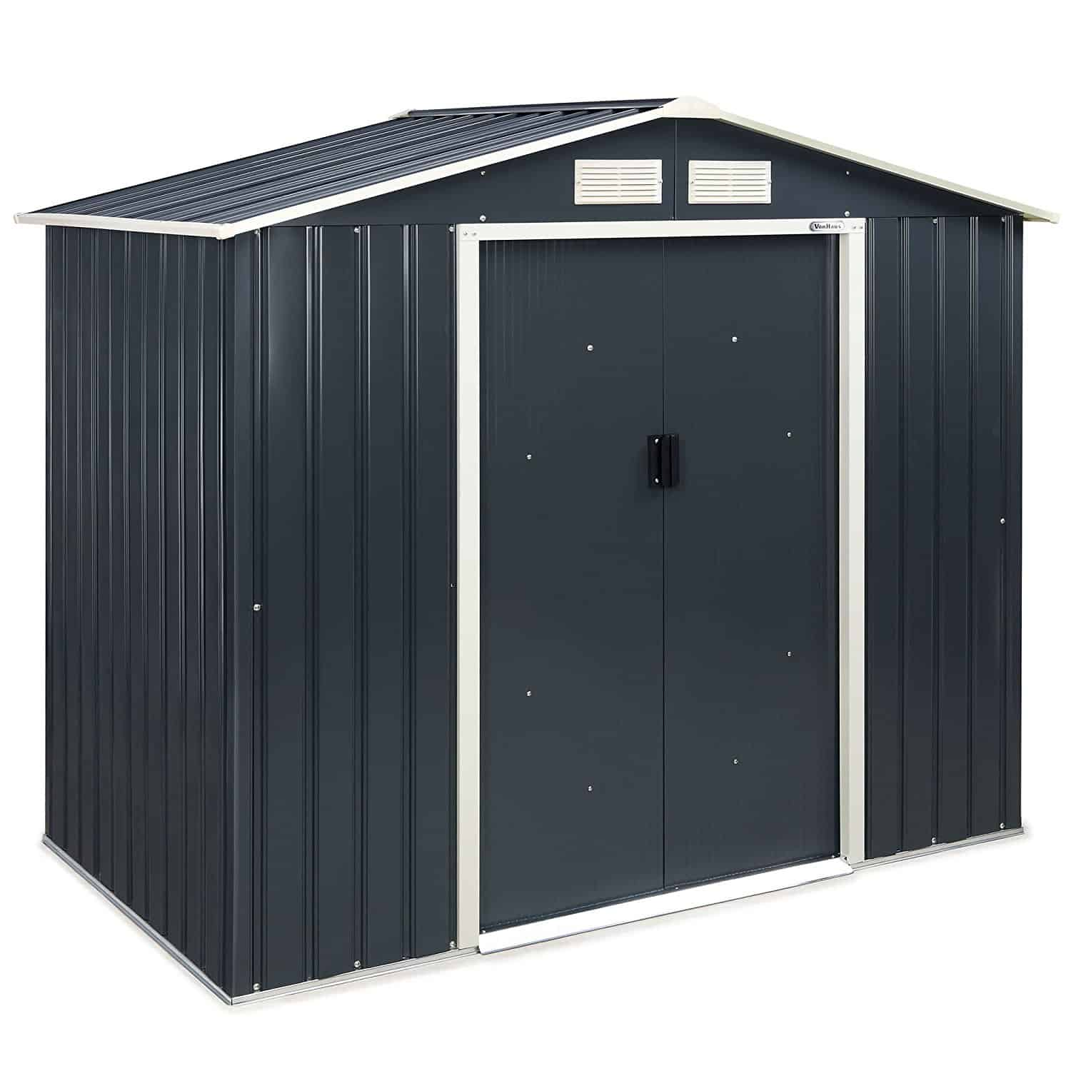 VonHaus metal storage shed